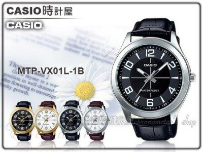 reputable site 5280c b67c6 CASIO 手錶專賣店時計屋CASIO 手錶MTP-VX01L-1B 男錶指針錶皮革 ...