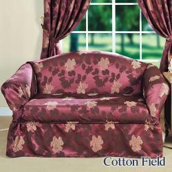 棉花田Cotton Field 米蘭 提花單人沙發便利套 紫色
