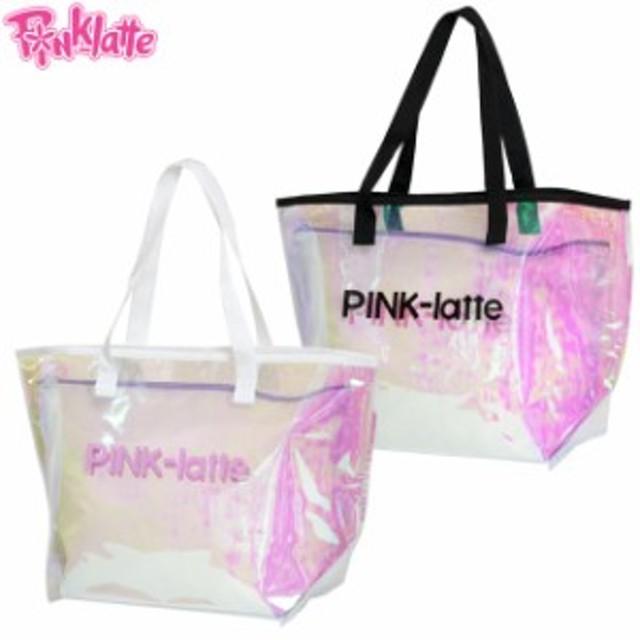 プールバッグ クリア トートバッグ 子供 キッズ 女の子 子供 PINK-latte(ピンクラテ) スイミングバッグ ビーチバッグ