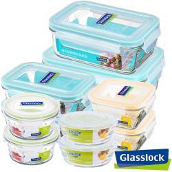 【Glasslock】強化玻璃微波保鮮盒 - 熱銷實用10件組