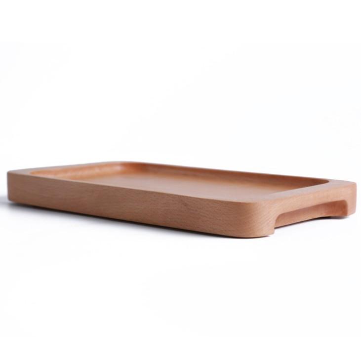 大號 日式櫸木茶盤【SG451】 25*13*2.3cm 日式櫸木茶盤雙耳托盤長方形點心盤蛋糕盤實木早餐盤