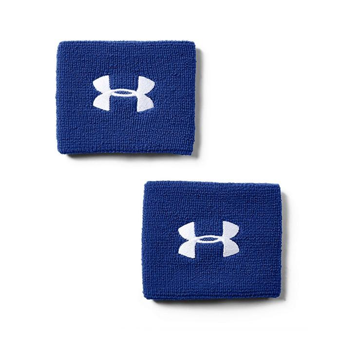 UA 19SS 健身腕帶 運動腕帶 成對 3寸腕帶 Performance系列 1276991-400 藍【樂買網】