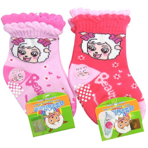 喜羊羊 美羊羊 止滑童襪 嬰兒襪 過年送禮喜氣洋洋【DK大王】