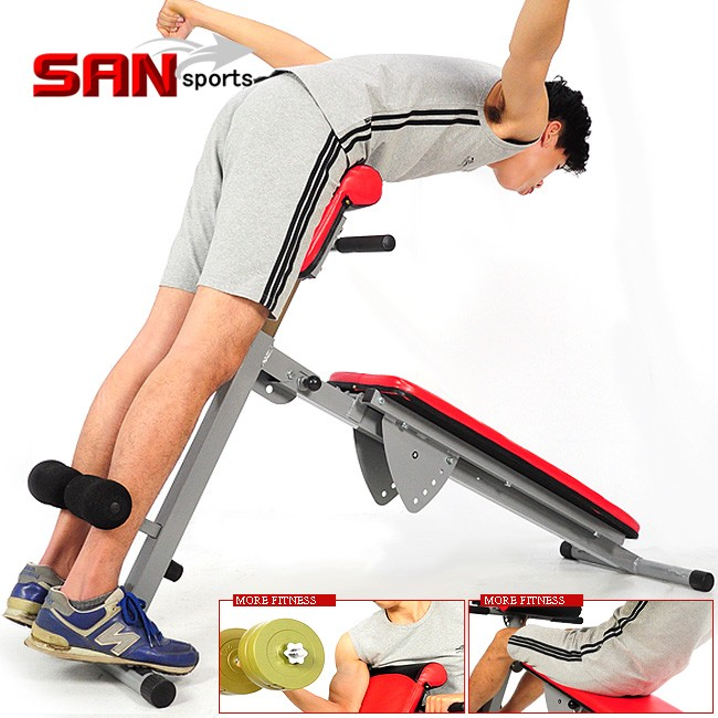 5in1大帝羅馬椅 C121-1107 仰臥起坐板健腹機健腹器舉重床啞鈴椅運動健身器材推薦哪裡買 SAN SPORTS