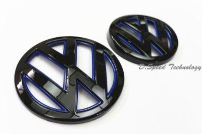 VW Volkswagen MK7 GTI GOLF7 高爾夫7 前後車標 白底亮黑+藍底亮黑