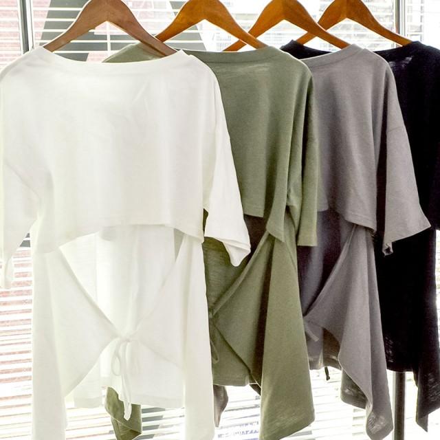 Tシャツ - argo-tokyo 【ARGO TOKYO】バックオープンTシャツ