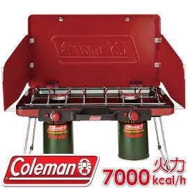 【Coleman 美國 21950瓦斯雙口爐】CM-21950/瓦斯爐/雙口爐/高山爐/快速爐/露營/BBQ