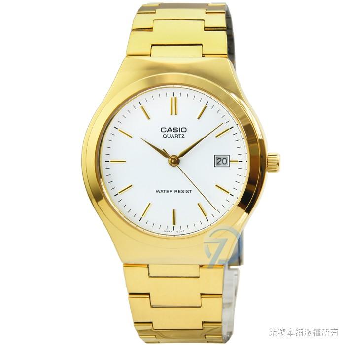 【CASIO】卡西歐經典時尚鋼帶男錶-金 / MTP-1170N-7A (原廠公司貨)