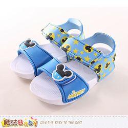 魔法Baby 男童涼鞋 迪士尼米奇正版輕量涼鞋~sk0004