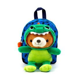 WING HOUSE可愛小熊-防走失背包 WT0268 恐龍 限定版
