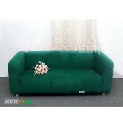 Osun-一體成型防蹣彈性沙發套 厚棉絨溫暖柔順_3人座 墨綠色 CE-184