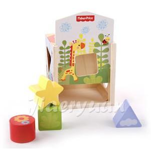 【狂降出清】Fisher-Price 費雪 木質玩具系列-可愛動物形狀配對盒【佳兒園婦幼館】