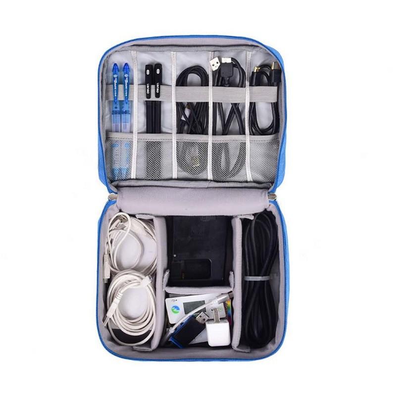 防震電子產品數位整理包 行動電源收納整理包 旅行收納包 旅行化妝收納袋 數碼收納包 灰色