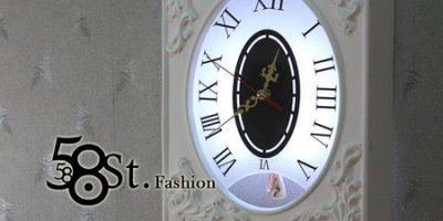 【58街燈飾-台中館】維多利亞風格「Victorian Style 石膏 擺鐘壁燈」設計師的燈。複刻版。GK-302