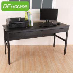 《DFhouse》巴菲特150公分電腦辦公桌+2抽屜-4色