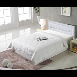 《新之森林》哈德森 5尺白色雙人三件房間組 (床頭片+床底+床頭櫃)