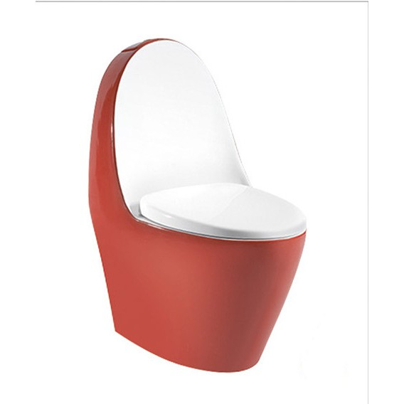 紅色美背型C-550單體馬桶 水龍捲抗污單體馬桶 衛浴馬桶 省水單體馬桶 二段式沖水
