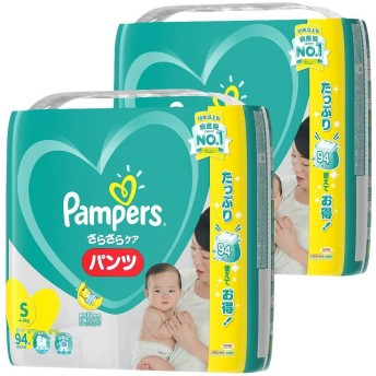 【パンツタイプ】パンパース さらさらケア Sサイズ 188枚(94枚×2) 紙おむつ箱入り