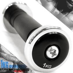 電鍍1公斤啞鈴(橡膠握把)