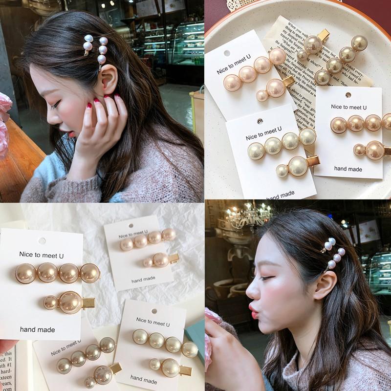 光澤珍珠髮夾 丸子頭點綴迷你韓國髮夾氣質珍珠日韓髮夾F78