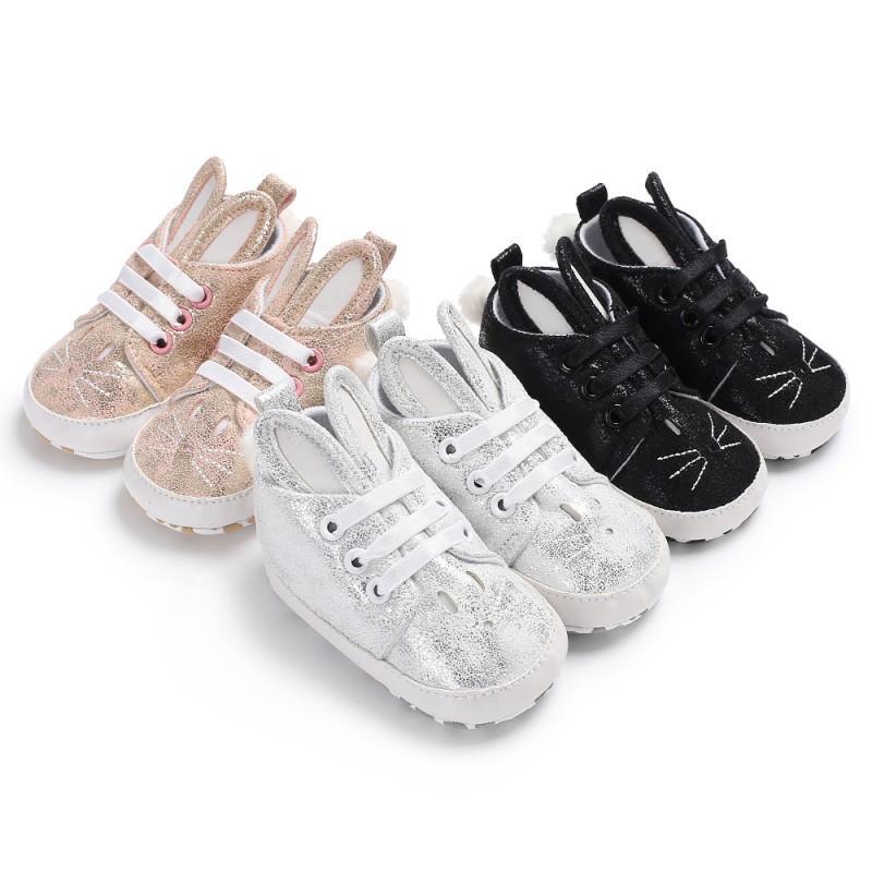 兒童 兔耳朵男嬰女孩可愛小兔子休閒軟底防滑童鞋【IU貝嬰屋】