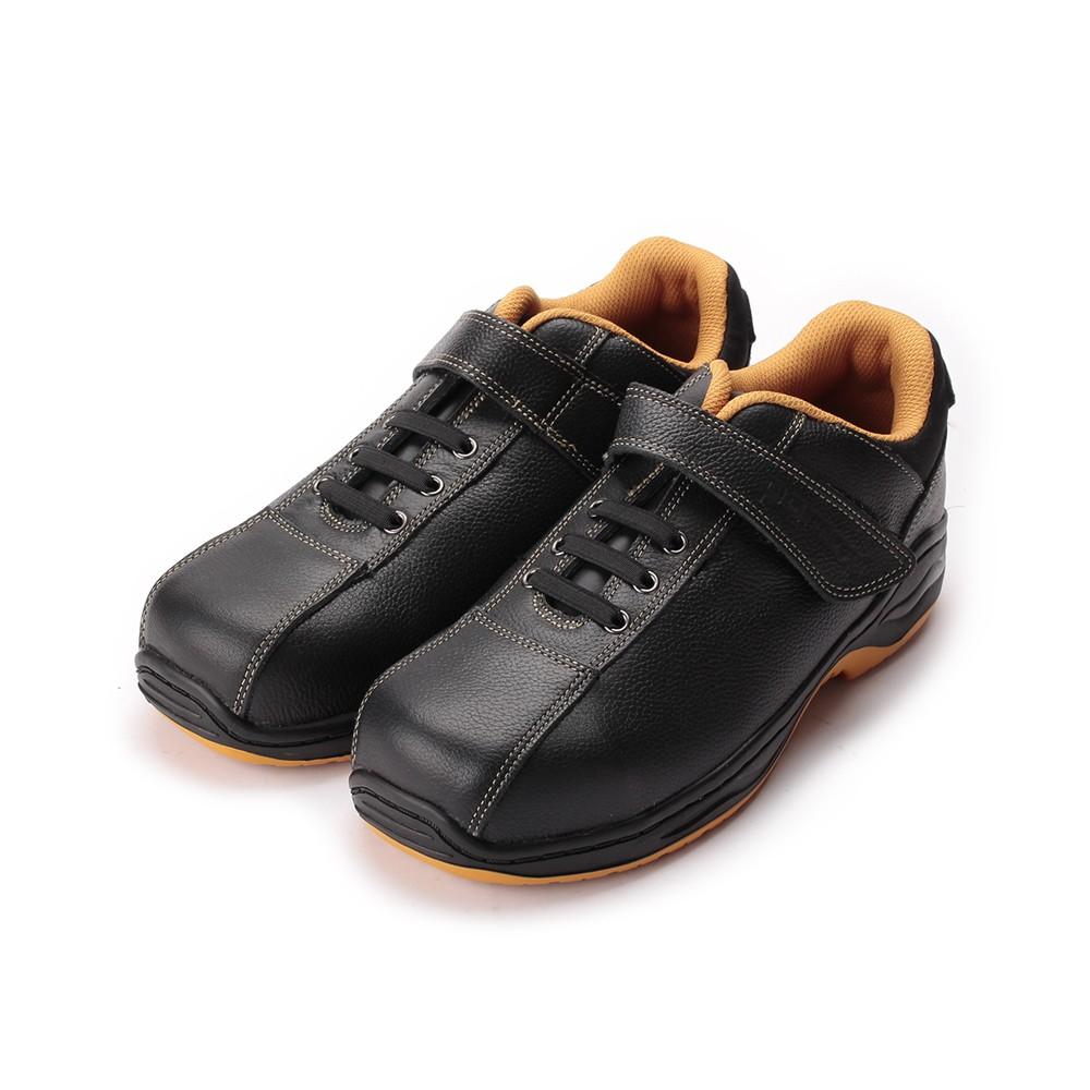 PAMAX 鞋帶式魔鬼氈鋼頭安全鞋 黑 男鞋 鞋全家福