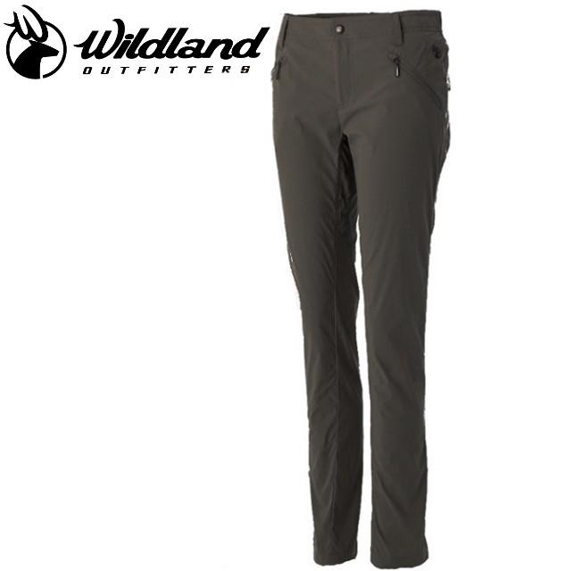 荒野 Wildland 女彈性透氣抗UV合身褲/休閒褲/旅遊露營/排汗透氣 深卡灰 OA51313-64 台灣製