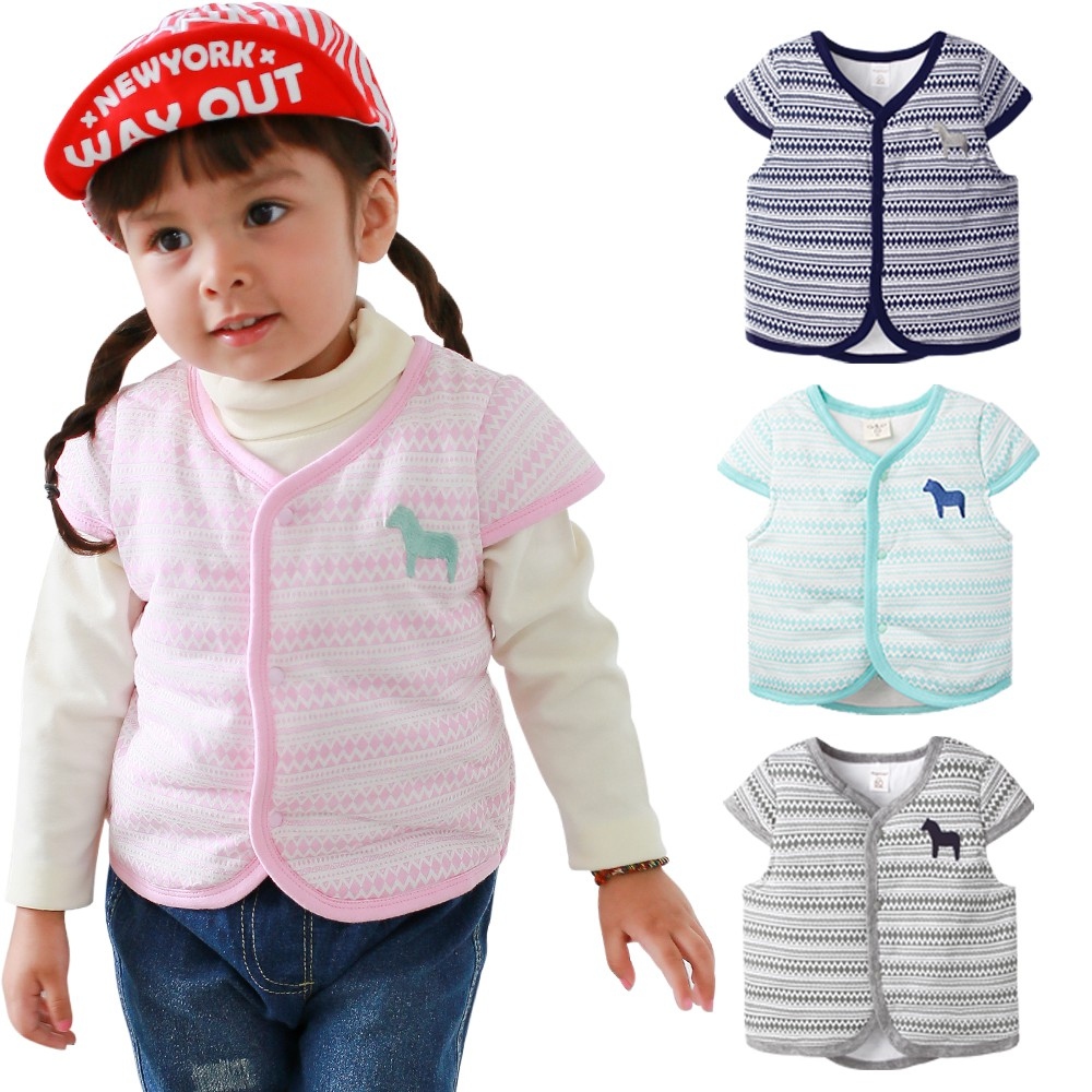 augelute baby童衣空氣棉背心 小馬刺繡 保暖 鋪棉 保暖背心 男寶寶 女寶寶 47041