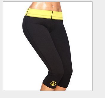 hot shapers健身褲子健美塑身氯丁膠自發熱七分短褲外貿