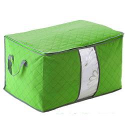月陽60X40竹炭彩色加高型衣物收納袋整理箱2入(C130LX2)