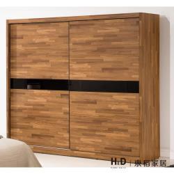 H&D 巴菲特7*7尺推門衣櫃
