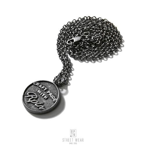 REPUTATION Vintage Coin Necklace - R.P.T.N仿古硬幣字體項鍊