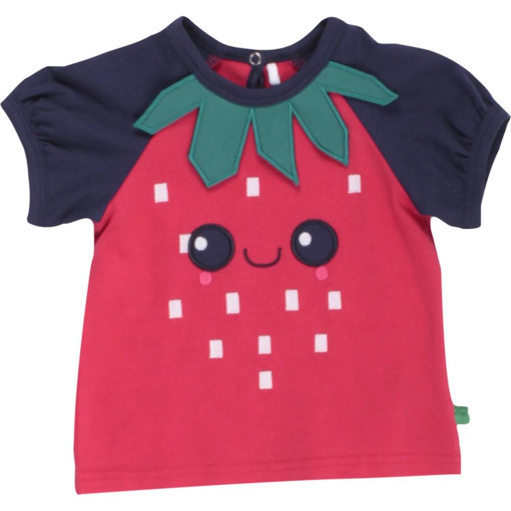 丹麥 Fred's World 紅色草莓臉短袖上衣|80cm 86cm 92cm 98cm 104cm
