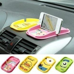愛美99精品舘--超Q 卡通汽車防滑墊|卡通手機支架| 多功能置物墊