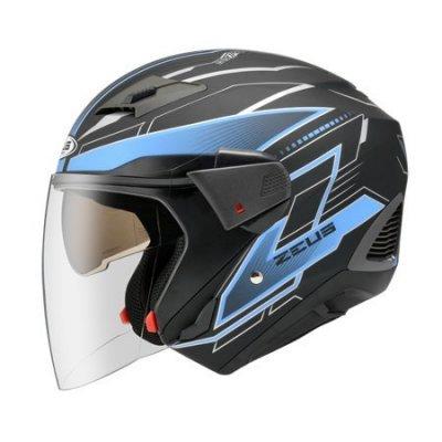 ZEUS 瑞獅 ZS-611E TT18 3/4罩安全帽 消光黑 藍