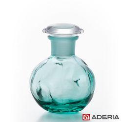 【ADERIA】日本進口圓形玻璃調味罐80ml(藍綠)
