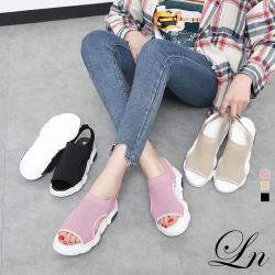 【WS】現+預 飛織厚底運動風涼鞋(休閒鞋 運動鞋 涼鞋)