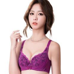 思薇爾 撩波葉之舞系列F-G罩蕾絲包覆大罩內衣(緋紫色)