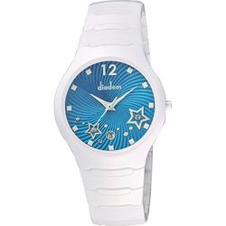 Diadem 黛亞登 甜蜜星空時尚白陶瓷腕錶 藍 9D1407-541SD-B