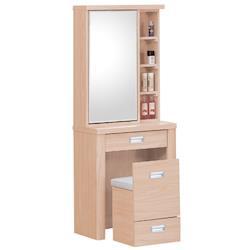 【時尚屋】[G16]雅典2尺栓木鏡台-含椅子G16-023-7