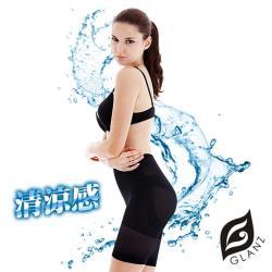 【GLANZ 格藍絲】320丹3D清涼感平腹翹臀五分束褲*6件組