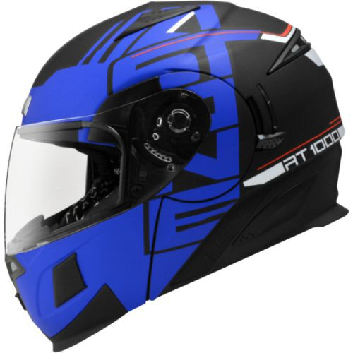 ASTONE RT1000 平黑/AB9藍 內墨鏡 可掀式 全可拆洗 吸濕排汗 全罩 安全帽《比帽王》