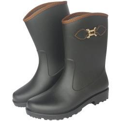 台製一體成型時尚雨靴雨鞋(晴雨兩用)