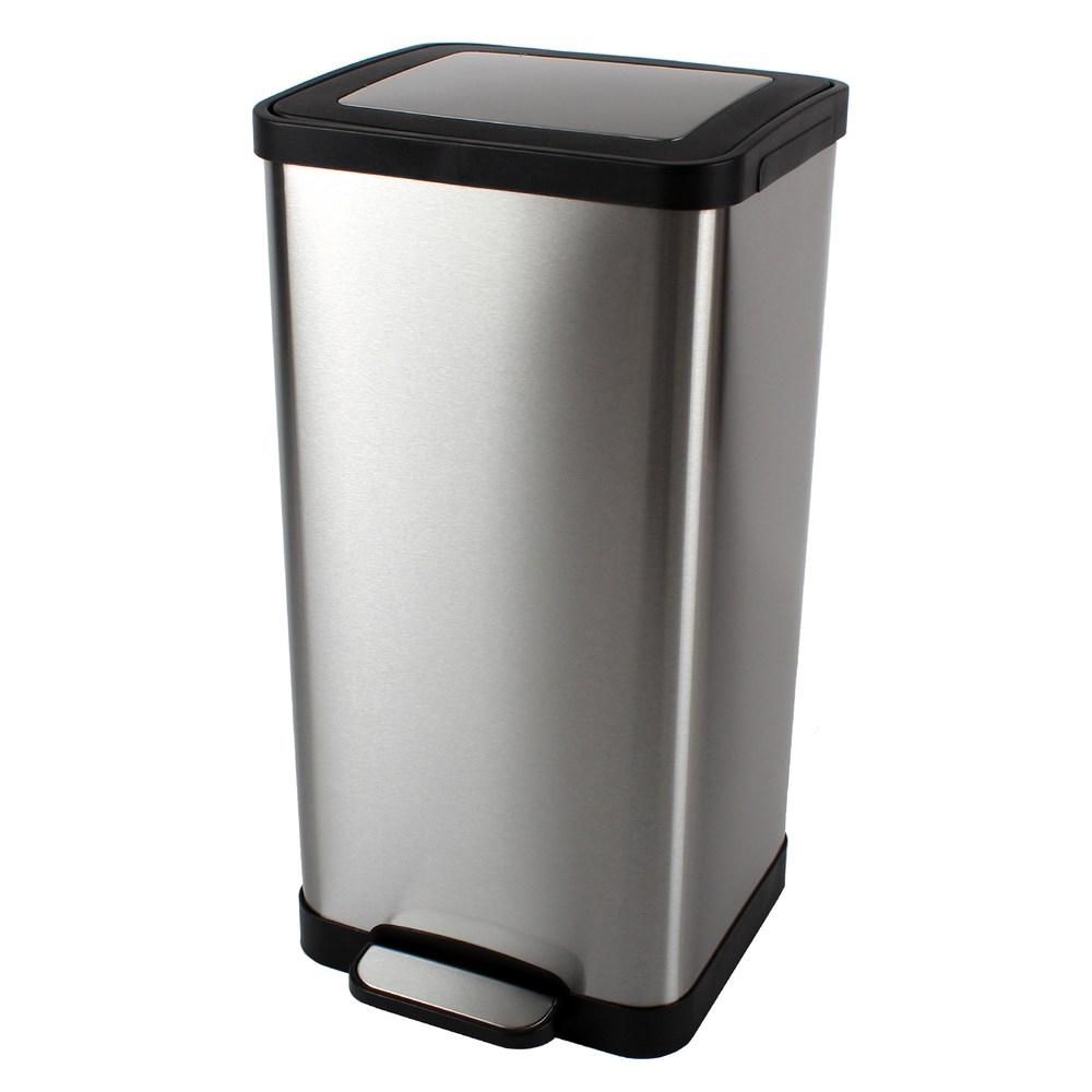 特力屋 藤原緩降垃圾桶 15L 不鏽鋼