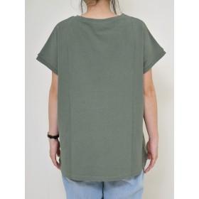 Tシャツ - HEART MARKET アーチロゴTeeレディース トップス Tシャツ ロゴ プリント カジュアル 綿 ゆったり ブラック カーキ アメカジ