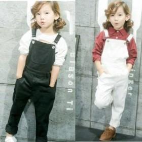 韓国子供服 ファッション 女の子 サロペット パンツ ズボン フォーマル 男の子 オーバーオール オーバーオール パンツ カジュアル ロング