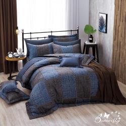 BUTTERFLY-台製40支紗純棉-薄式雙人床包枕套三件組-西部牛仔