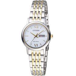 CITIZEN 星辰 知性美學時尚腕錶 EW3254-87A