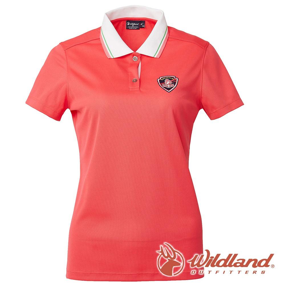 【wildland 荒野】女 COOLMAX 抗UV 排汗YOKE衣『珊瑚紅』0A61617