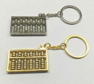 【SPSP】6位數 六位數 算盤鑰匙圈 中式算盤 珠算 傳統算盤 汽車鑰匙圈 貨車鑰匙圈 造型鑰匙圈 金屬鑰匙圈 吊飾